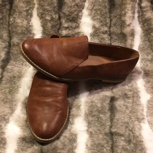 Indigo brown leather loafers